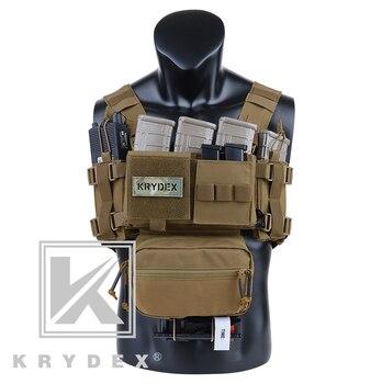 KRYDEX, MK3, equipo táctico clásico para el pecho, Coyote, minitransportador militar marrón Ranger, chaleco con bolsa para revistas para caza Airsoft