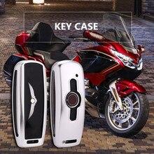 Чехол для ключей мотоцикла из алюминиевого сплава для Honda GL1800 Gold Wing GoldWing CNC чехол для ключей