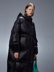 Image 2 - IRINACH45 2020 yeni koleksiyon kalın sıcak kadınlar uzun beyaz ördek aşağı ceket ceket kış
