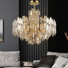 Modern Luxury Crystal Chandelier Lighting Fixture Contemporary Living Room Hanging Light for Home Restaurant Decor