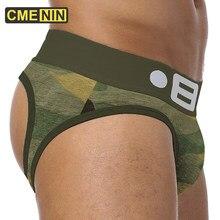 BS marque ouverte dos nu g-cordes Camouflage hommes sous-vêtements Sexy Gay pénis tanga mâle sous-vêtements Slip tongs jockstrap BS142