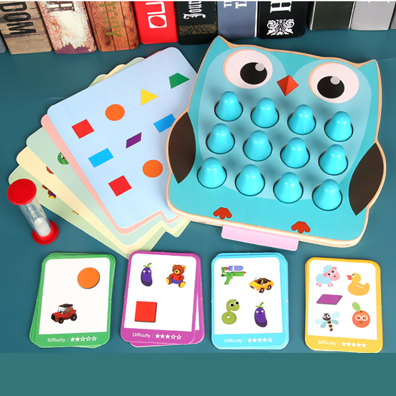 2 In 1 Memory Detective Games Early Puzzle Teaching Toddler Educational Toys Shape Color Matching Training Toys For Children