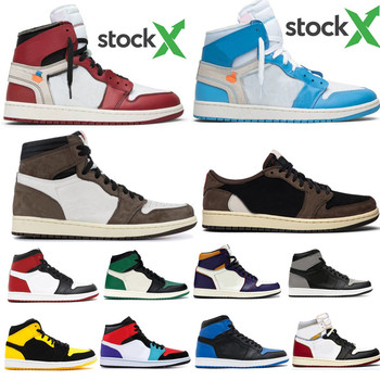 1 High OG Bred Toe Travis Scotts Banned Fearless Royal Basketball Shoes Men 1s Top 3 Shattered Backboard Shadow Obsidian Sneaker