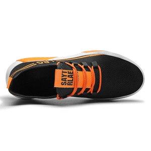 Image 3 - Mannen Schoenen Mesh Ondiepe Lente/Herfst Lace Up Solid Designer Sneakers Mannen Off Witte Schoenen Ademend Non  slip Loopschoenen