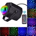 Дискотека свет 5 в лазерный звук Вечерние огни хрустальный магический шар светодиодный стробоскоп свет сценический свет RGB для рождества до...