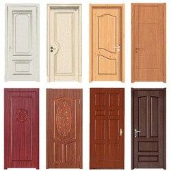 木目のドアステッカー防水粘着壁紙木製ドア改修キャビネット家具ホームインテリア Diy のウォール壁画デカール