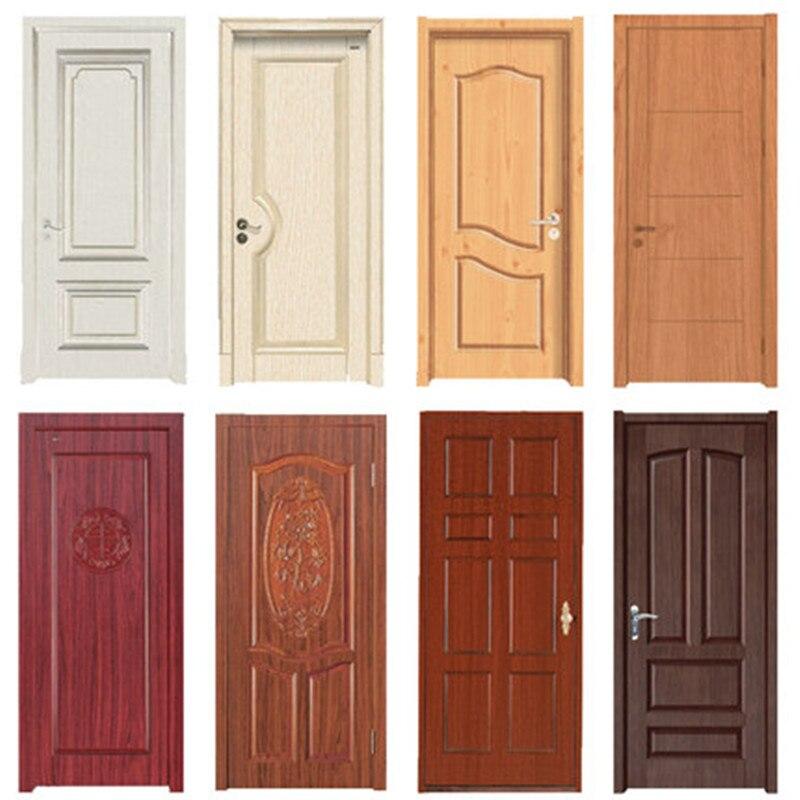 Holzmaserung Tür Aufkleber Wasserdicht Klebstoff Tapete Holz Tür Renovierung Schrank Möbel Wohnkultur DIY Wandbild Decals