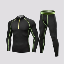 цена на Men's Sports Underwear Set Winter Warm Cycling Fleece Outdoor Bicycle Clothes Skiing Hiking Long Sleeves Jersey