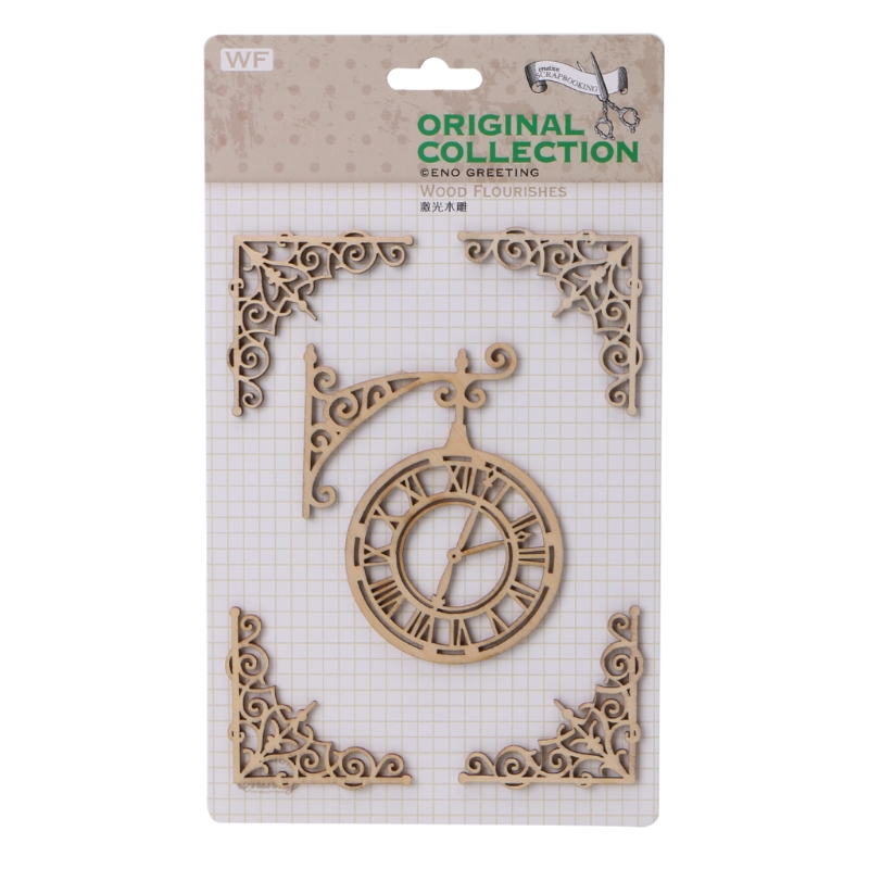 Laser Cutting Wooden Embellishments For Scrapbooking Cardmaking DIY Craft Decor E65B