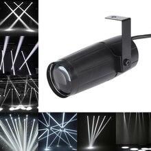 5W LED White Beam Pinspot Light Spotlight Super Bright Lamp Balls Projector DJ Disco Effect DMX Stage Lighting Cool for KTV DJ