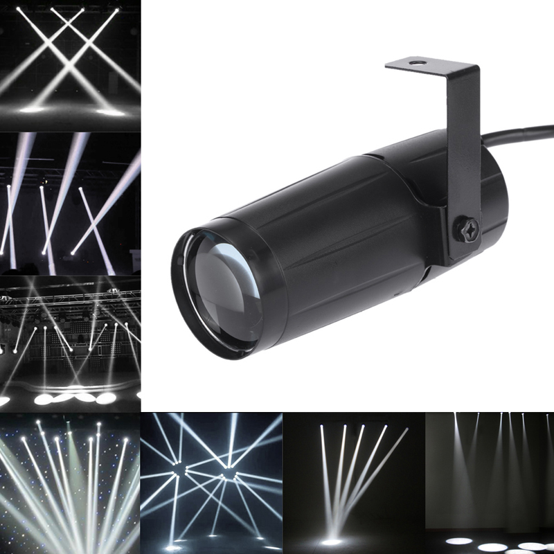 Cool Total 5W LED White Beam Pinspot Light Spotlight Super Bright Lamp Mirror Balls DJ Disco Effect Stage Lighting For KTV DJ
