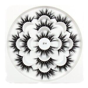 Image 5 - Soqoz 16/7 pares cílios postiços 3d vison cílios feitos à mão macio olho cílios vison real cílios maquiagem grosso cílios falsos