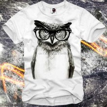 T Shirt Owl Eule Hipster Blogger Wasted Youth Paris A Dj Eleven T Shirt Mens New Fashion Custom Shirt Printing(China)