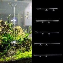 Aquarium Clear Glass Shrimp Feeding Tube Food Feeder Pipe Holder with Suction Cups Shrimp Fish Tank  Glass Feeder Tube Supplies