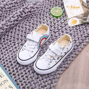 Boy Shoes Sneakers Canvas Rainbow Autumn Girls Cute Print Unicorn