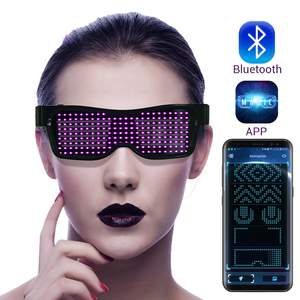 Image 1 - Magic Bluetooth Led Party Glasses APP Control Luminous Glasses EMD DJ Electric Syllables Party Eye Glasses