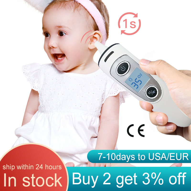 Forehead Ear Baby Thermometer Non Contact Infrared Thermometer Body Temperature Fever Digital Measure Tool For Baby Adult