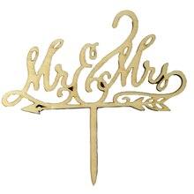Юбилейные деревянные любовь вечерние Mr Mrs рустикальное украшение для свадебного торта Романтический торт Топпер