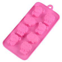 1PC Hippo Lion Bear Shape Silicone Mold Jelly Chocolate Soap Cake Decorating DIY Kitchen Bakeware delidge 1pc chess silicone chocolate mold chess pieces diy ice fondant jelly mold cake decorating soap mold kitchen cooking tool