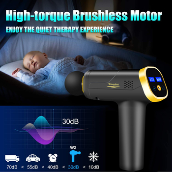 Massage Gun Fascia Gun Neck Massager Vibration Fitness Equipment Noise Reduction Design Electric Massager 4