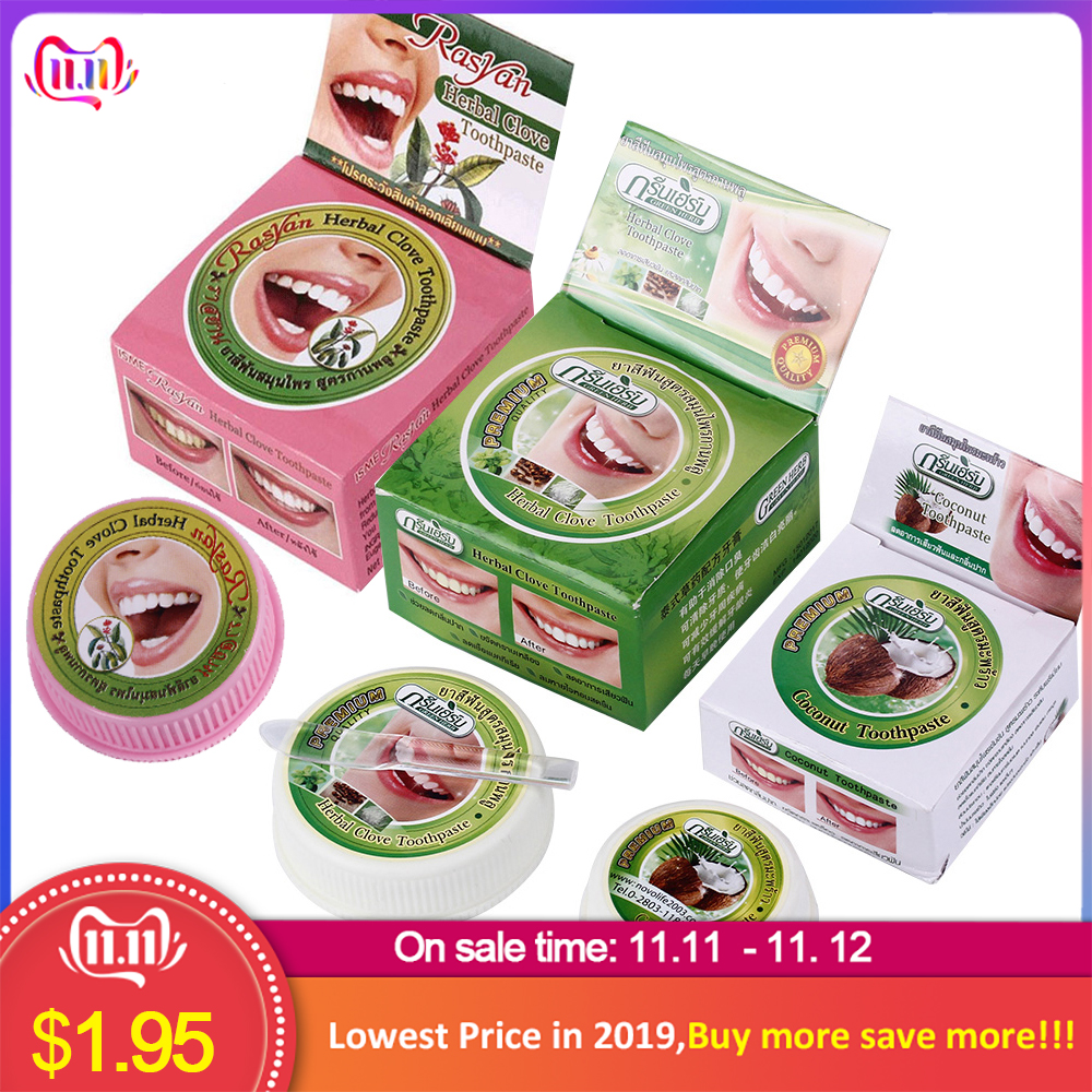 Natural Herbal Clove Thailand Toothpaste Tooth Whitening Toothpaste Dentifrice Antibacterial Tooth Paste Mint Oral Clean
