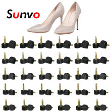 Sunvo 60pcs High Heel Protectors Caps for Shoes Repair Heel Stoppers Protect Dowel Lifts Replacement Tips Pins Heels Accessories