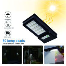 Solar LED Street Light Outdoor Waterproof Control Wall 48 Beads 80 Super Bright