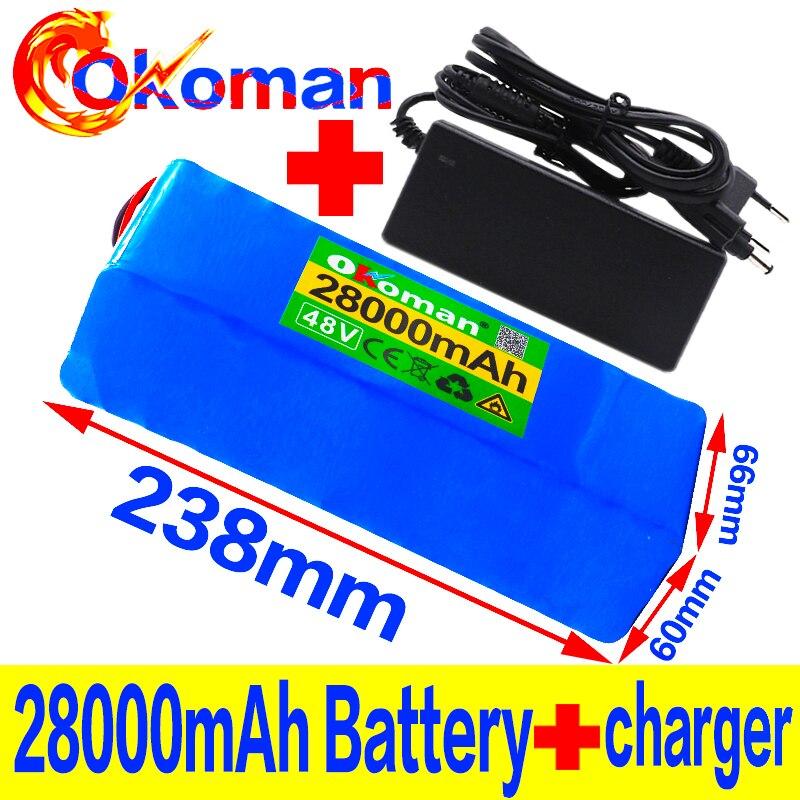 Аккумулятор для электровелосипеда, 48 В, 28 А · ч, 1000 Вт, 13S3P 18650 MH1 54,6 в