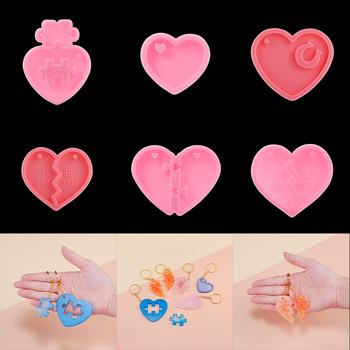 1 sztuk Love Heart Shaped silikonowe formy brelok wisiorek żywica epoksydowa UV formy do DIY żywica silikonowe Craft narzędzia do tworzenia biżuterii tanie i dobre opinie Pendant Mold Pendant Silicone Mold AC1176 linki do biżuterii DIY Epoxy Resin Jewelry Making Epoxy resin for jewelry making