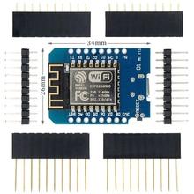 10 PÇS/LOTE D1 Mini   Mini NodeMcu 4M Bytes Lua ESP8266 Baseado Placa de Desenvolvimento Módulo WI FI WI FI Internet das Coisas