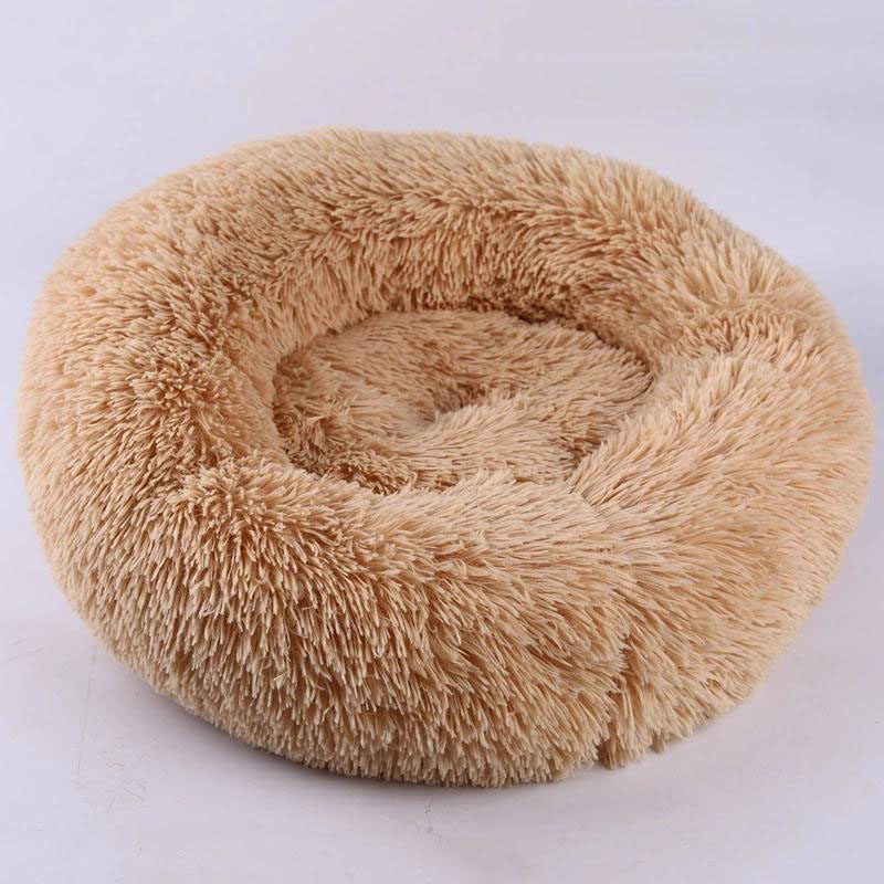 Image 3 - Long Plush Super Soft Cat Bed Kennel Dog Sofa Cat Winter Warm Sleeping Bag Puppy Cushion Mat Portable All Sizes Nest House-in Cat Beds & Mats from Home & Garden