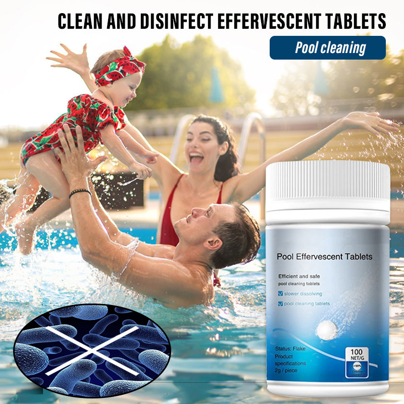 100 Pcs Pool Cleaning Tablets Multifunction Disinfection Swimming Pool Maintenance Tabletsfor Swimming Pool Tub L23