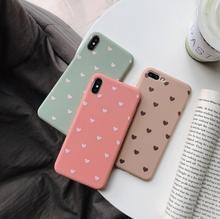 Śliczne serce miłość różowe etui do Coque iphone 11 Pro 7 8X11 Pro Max etui do iphone XR XS Max 6 S 6 s 7 8 Plus SE 2020 skrzynki pokrywa tanie tanio GTTWDTMSTB CN (pochodzenie) Aneks Skrzynki Silicone Mobile Phone Bag Apple iphone ów Iphone 5 Iphone5c Iphone 6 Iphone 6 plus