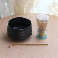 цена на Professional Japanese Matcha bowl whisk scoop Bamboo Caddy Gift set Green Tea Powder teaset Japan Tea Ceremony Matcha Teaware