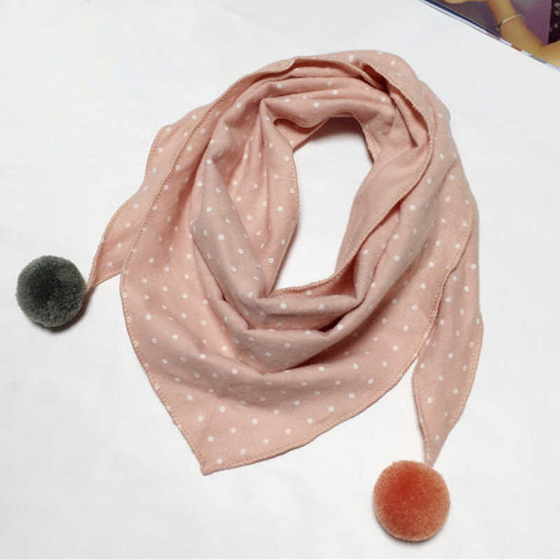 Children Kids Accessories Boys Girls Dot Scarf Neck Scarves O ring Shawl Scarf