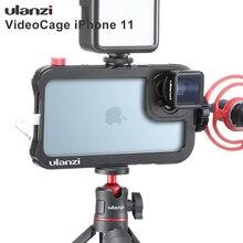 Ulanzi Vlog Cage de boîtier en métal pour iPhone 11 enregistrement vidéo étui de tournage avec 17MM filetage 1/4 vis