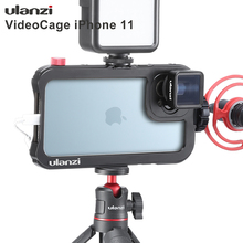 Ulanzi Vlog metalowa obudowa do iPhone 11 nagrywanie wideo nagrywanie Vlogging Case z gwintem 17MM 1/4 śruba