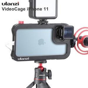 Image 1 - Ulanzi Vlog metalowa obudowa do iPhone 11 nagrywanie wideo nagrywanie Vlogging Case z gwintem 17MM 1/4 śruba