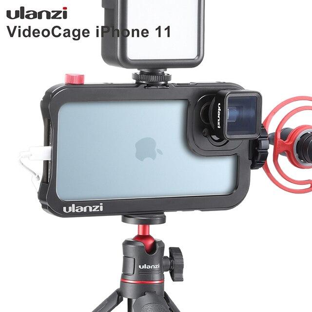 Ulanzi vlog金属ケースケージiphone 11ビデオ撮影記録vloggingケース17ミリメートル糸で1/4ネジ