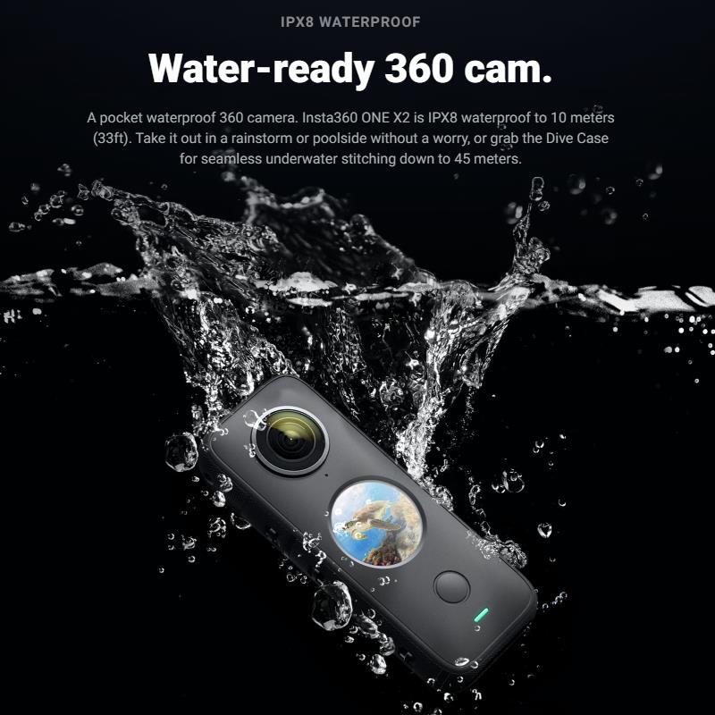 Insta360 One X2 360 Action Camera 5.7K VR Video 10M Waterproof Insta 360 One X2 Pocket Panorama Underwater Helmet Pro  Sport Cam-2