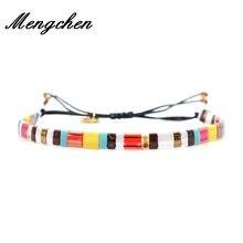 Boêmio tecido artesanal miyuki pulseira feminina colorido tila contas pulseira bileklik pulseiras jóias presente da forma