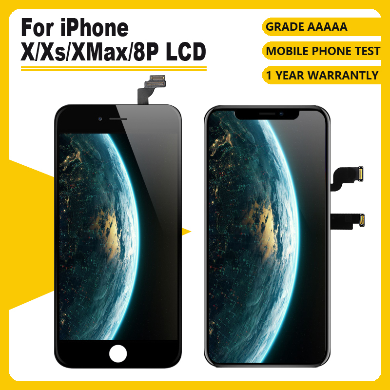 GradeAAAAA  For IPhone X XR XS Xsmax 8PLCD Display For TFT OLED OEM Touch Screen With Digitizer Replacement Assembly Parts Black