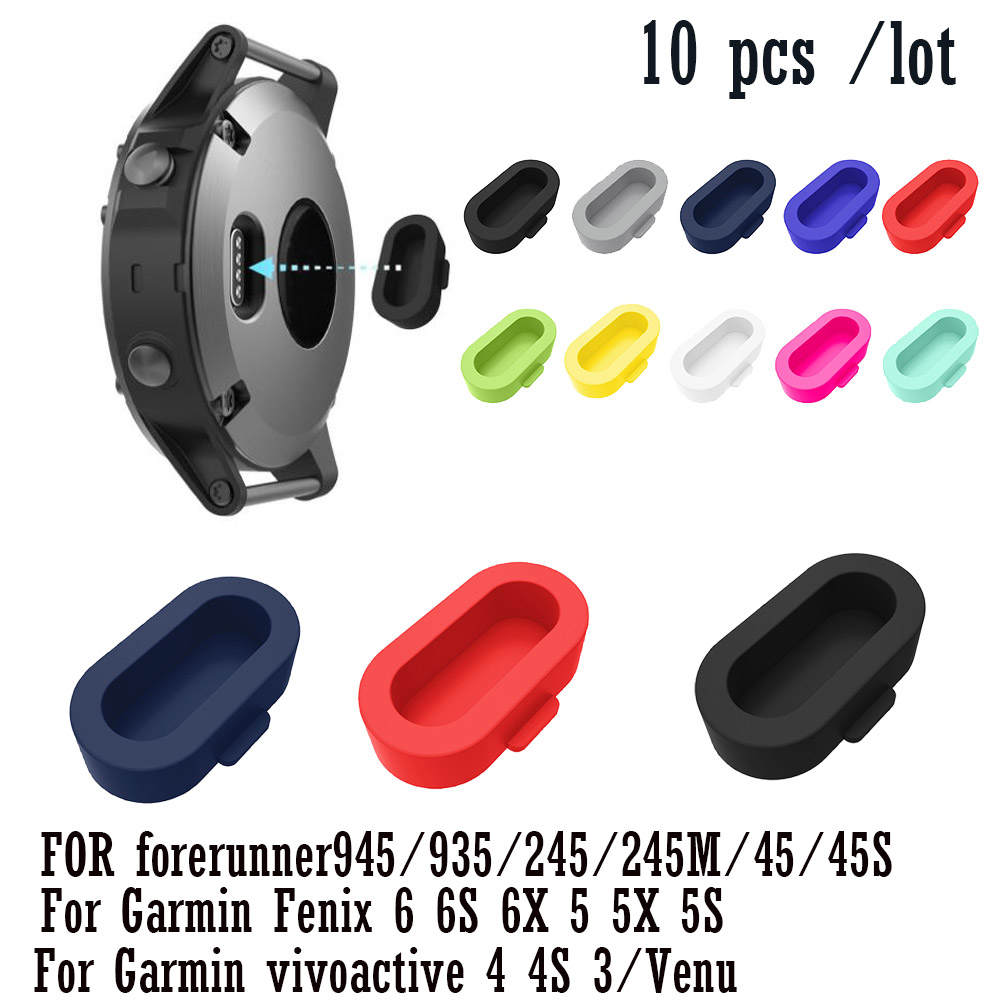 Silicone Dustproof Plug Cover Charger Case For Garmin Fenix 6 6S 6X 5 5X 5S /forerunner 945/935/245/245M/45/45S / Instinct /Venu