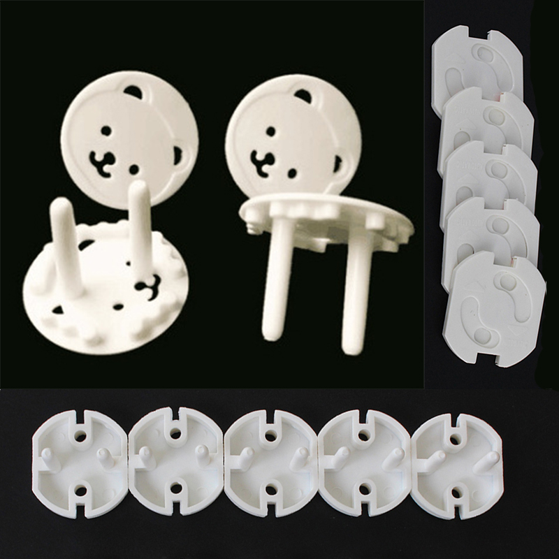 10pcs Baby Safety Rotate Cover 2 Hole Round EU Electric Protection Socket Children Against Plastic Security Locks Cover