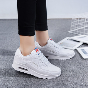 Image 4 - Hundunsnake Air Cushion Womens Sneakers Women Leather Running Shoes Womens White Woman Sport Shoes Female Sports Shoes Gym T14