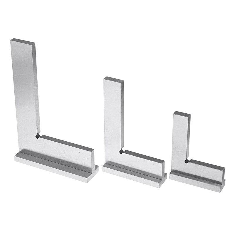 50x40/75x50/100x70mm machiniste carré 90 degrés Angle droit ingénieur ensemble avec siège précision en acier trempé règle d'angle