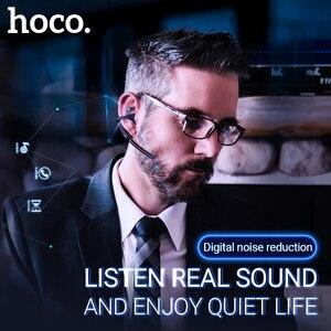 Image 2 - Hoco bezprzewodowy zestaw słuchawkowy z redukcją szumów zestaw głośnomówiący douszne z mic dla jazdy haczyk projekt dla iPhone Huawei Xiaomi earbud