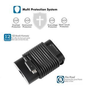 Image 4 - 45W USB C dizüstü bilgisayar adaptörü DELL şarj cihazı XPS 13 9365 9370 9380 DELL XPS 12 Latitude 7275 7370 5175 5285 5290 2in1 7390 2in1