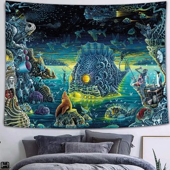 Simsant Psychedelic Shrooms Tapestry Colorful Abstract Trippy Tapestry Wall Hanging Tapestries for Home Dorm Fantasy Decor 13