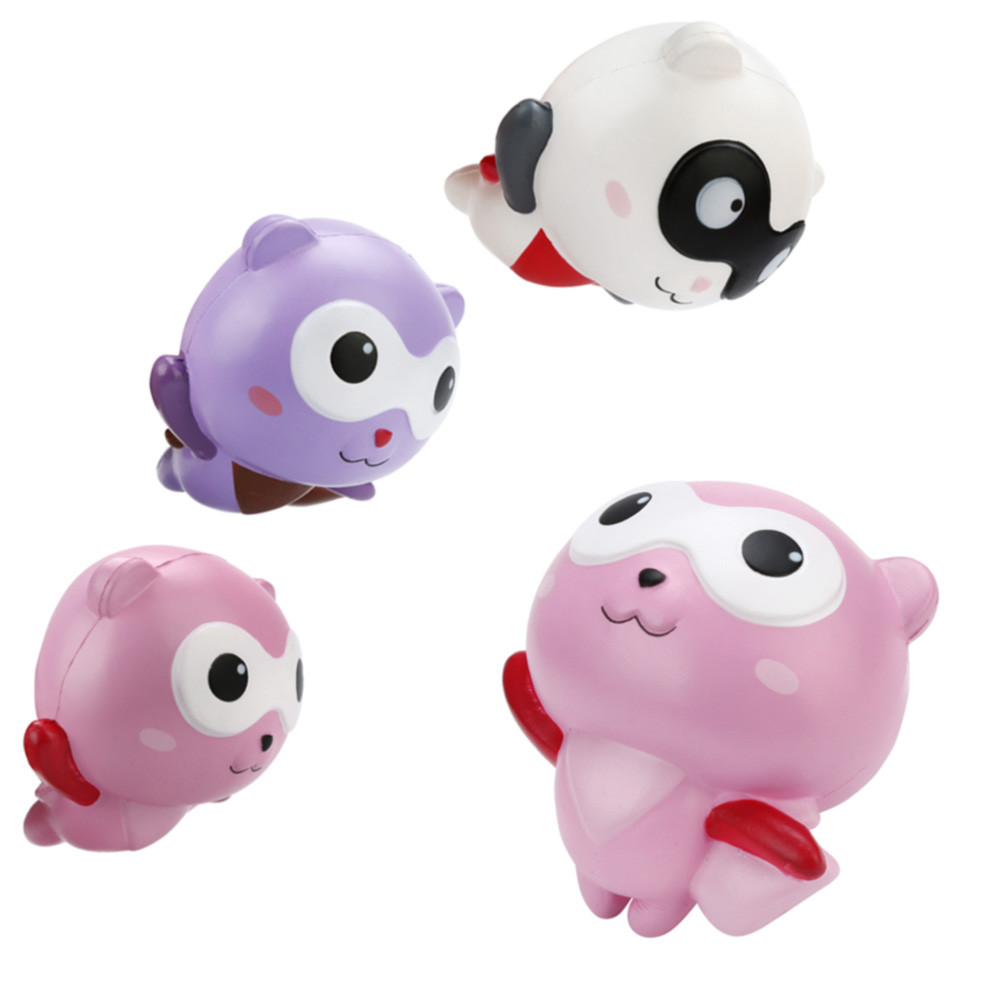 12cm Simulation Decompression Toy Cute Panda Man Cartoon Scented Squishy Charm Slow Rising Squeeze Toy Charm  L1231